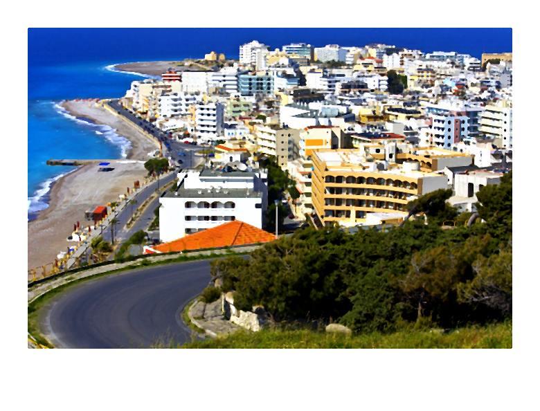 Wakacyjne popularne kurorty Grecji wyspiarskiej i południowo-zachodniego wybrzeża Turcji